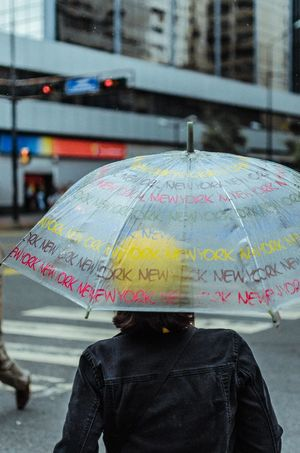 Rainy Yellow Spot Adult Architecture City Day Focus On Foreground Holding Monsoon Obscured Face One Person Outdoors Protection Rain Rainy Season Real People Rear View Safety Security Streetphotography Umbrella Water Wet
