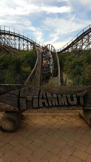 Roller Coaster Mammut Erlebnispark Tripsdrill Holzachterbahn