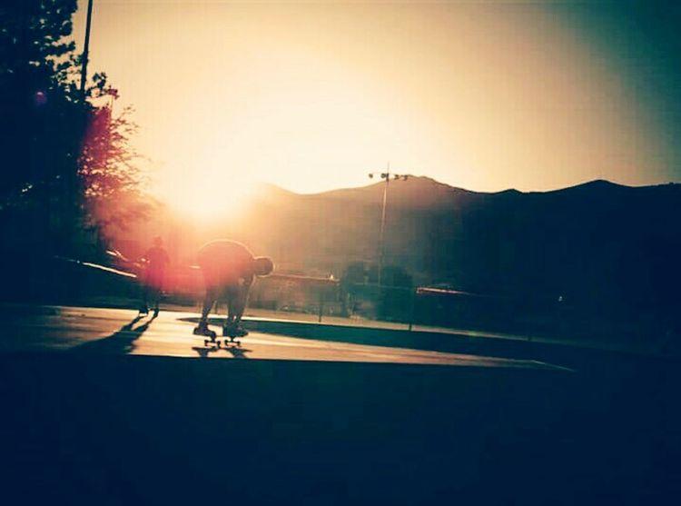 Creative Light And Shadow Skateboarding Skatepark Enjoying Life Hanging Out Taking Photos Nevada Nice Afternoon Sunset Homies ✌