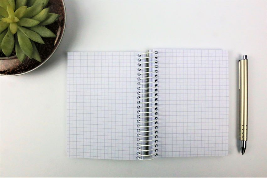 An concept Image of a ring Notebook with a pen and a flower - copy space - mock up Business Copy Space Office Close Up Close-up Colorful Concept Copy Space Day Directly Above Flower Indoors  Mock Up No People Note Pad Notebook Paper Pen Pencil Spiral Notebook