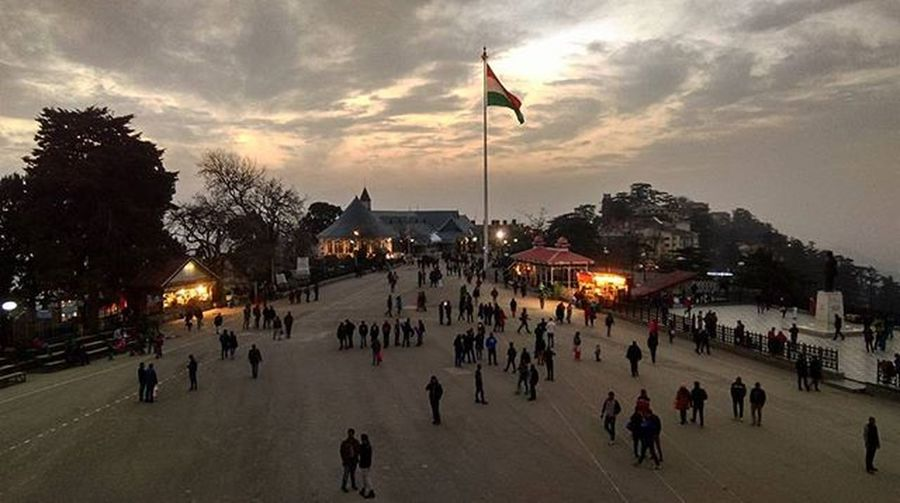 New attraction on mall road... Tiranga Shimla Shivalik Simla Flag Tiranga Tricolor India Mall road Photography Evening Wanderer Traveldairies Traveller Friends Dost Picoftheday Highaltitude IGDaily India Instadaily Picoftheday Xiomi Redmi Follow4follow instalike mobileclick mountaincity himalaya highway himachalpradesh ankitdogra