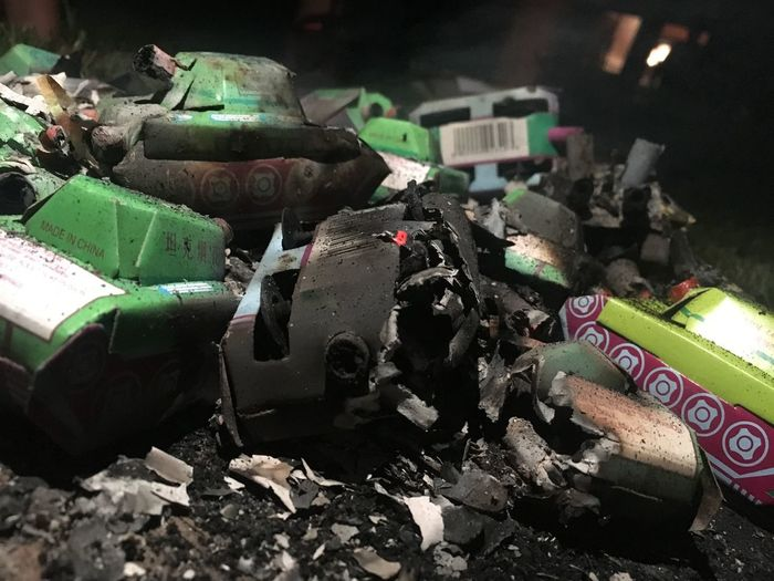 Rubble from