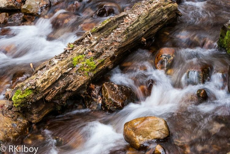 Log in the water Long Exposure Waterfalls #landscape #nature #photography Nikon D60