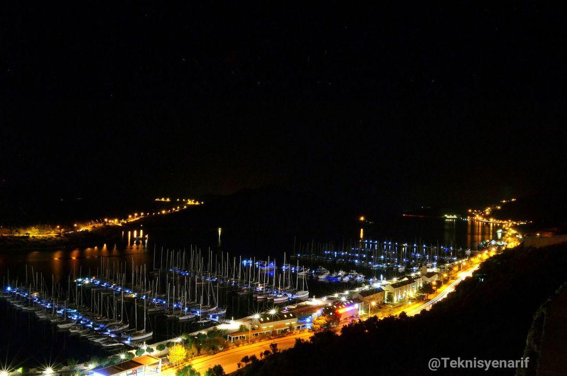 Kaş setur marina uzun pozlama Kas Setur Marina Uzunpozlama Deneme Gece City Lights