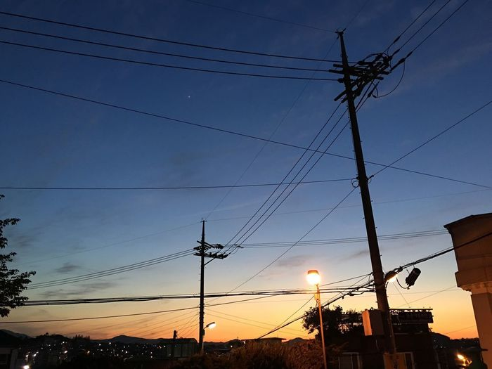 Electricpole City At Night Night View Arjungtaeng Seongnam Korea IPhone 6s Plus Sunset IPhoneography