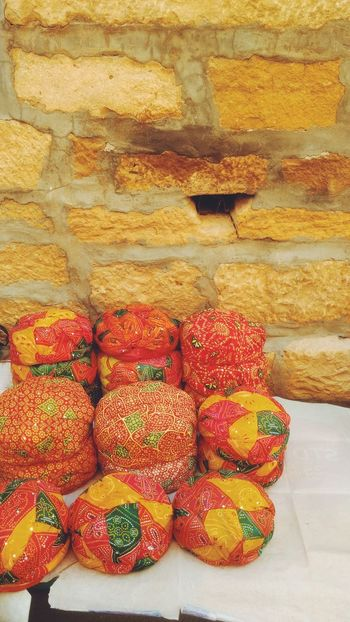 Yellow Red Turbans Rajasthan Jaisalmer Rajasthani Culture India