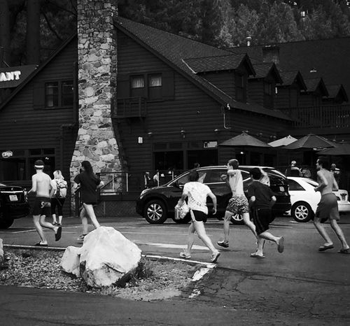 Photography In Motion People Running Black & White Feel The Journey Original Experiences Leisure Activity Summertime Running Chasing Resist