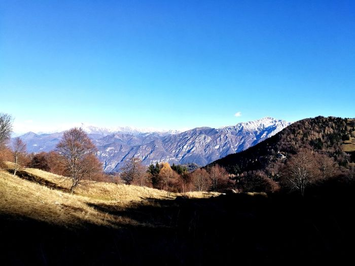 San Primo Italy Italia Lago Di Como, Italy EyeEm Selects Tree Mountain Snow Winter Clear Sky Cold Temperature Rural Scene Sky Mountain Range Landscape