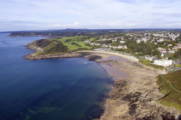 Langland Bay Aerial View Beach Beauty In Nature Day Landscape Nature No People Outdoors Scenics Sea Sky Water