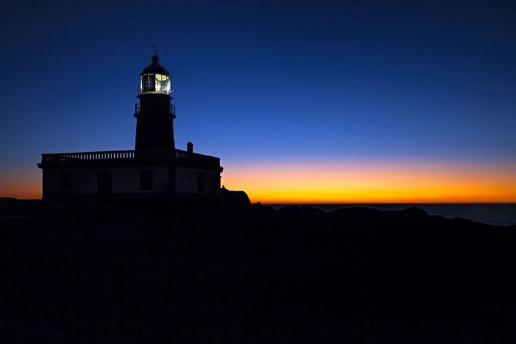 Silhouette Night Amazing Sky Amazing Sunset Orange Color Dramatic Sky Champa Landscape Galifornia Sunset Seascape Cloud - Sky Lifeguard  Lighthouse Corrubedo faro