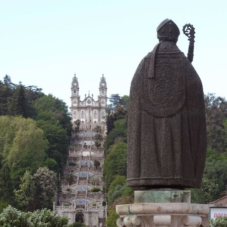Church of Bom Jesus, Braga Architecture Built Structure Sky Tree Building Exterior Plant Clear Sky History The Past Religion Place Of Worship Travel Destinations Spirituality Tourism Belief Low Angle View Travel