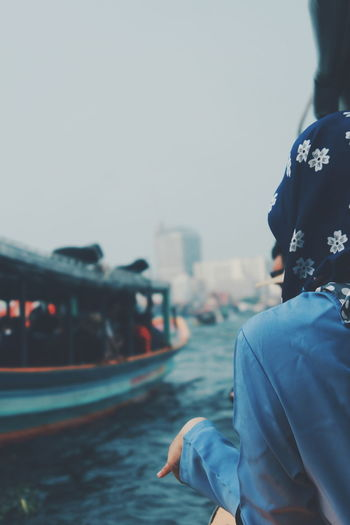 Summer Holiday Human Hand Hand People Boat River City Rear View Close-up Casual Clothing
