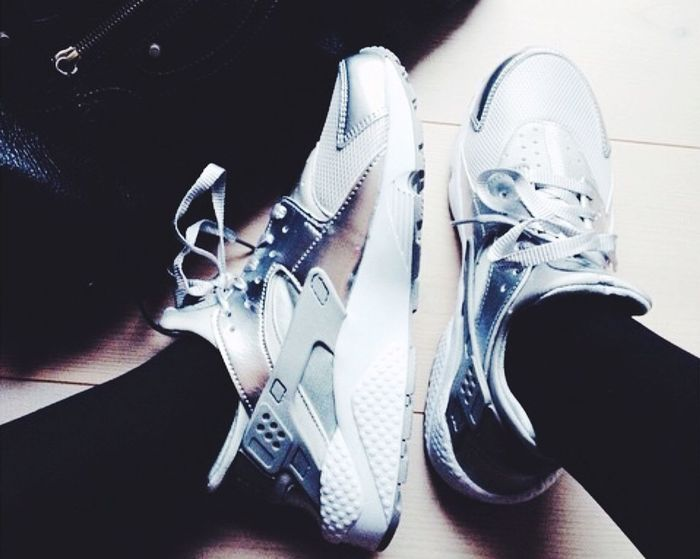 Klar til arbejde ? ? Nike Nike Huarache  Silver  Love Knicks Sneakers Shoes