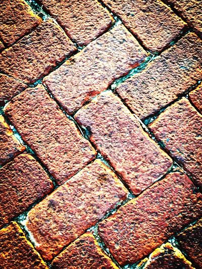 Maximum Closeness small town old red brick roads Backgrounds Full Frame Pattern Textured  No People Day Outdoors Close-up Brick Redbrick Road Street Streetphotography Old Landscape Adapted To The City The City Light Art Is Everywhere The Street Photographer - 2017 EyeEm Awards