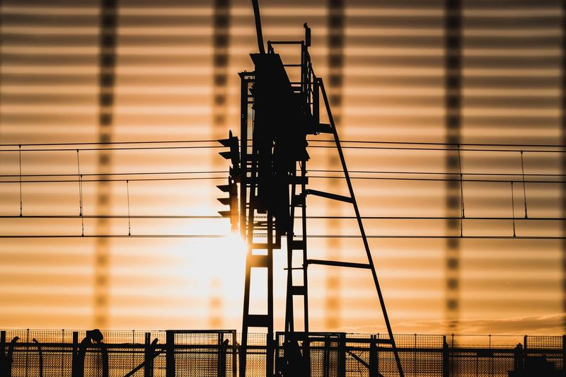 Sydney Sunset Silhouette Connection Technology Architecture Built Structure Real People Outdoors Sky Building Exterior Nature Day Travel Destinations Travel Transportation
