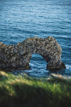 Dundle Door DundleDoor Water Sea Rock Beauty In Nature Solid Land No People Nature Rock - Object Beach High Angle View Day Tranquility Blue Outdoors Rock Formation Tranquil Scene Rippled Scenics - Nature