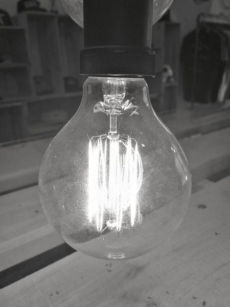 Single Object No People Close-up Indoors  Illuminated Bulb Lights Eletricity Glass Glowing Glow Filament Light Filament Bulb Blackandwhite EyeEm Selects The Week On EyeEm