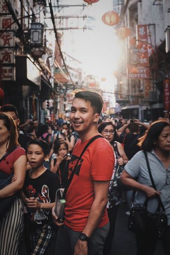 In the streets of Binondo, Manila during Chinese New Year celebration Chinese New Year Festive Men City Street Crowd Large Group Of People City Life EyeEmNewHere Visual Creativity Adventures In The City Adventures In The City