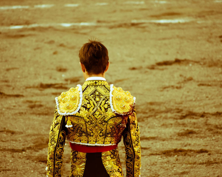 Paint The Town Yellow Standing One Person Torero  Bullfighter Challenge Traje De Luces Fiesta Brava Matador