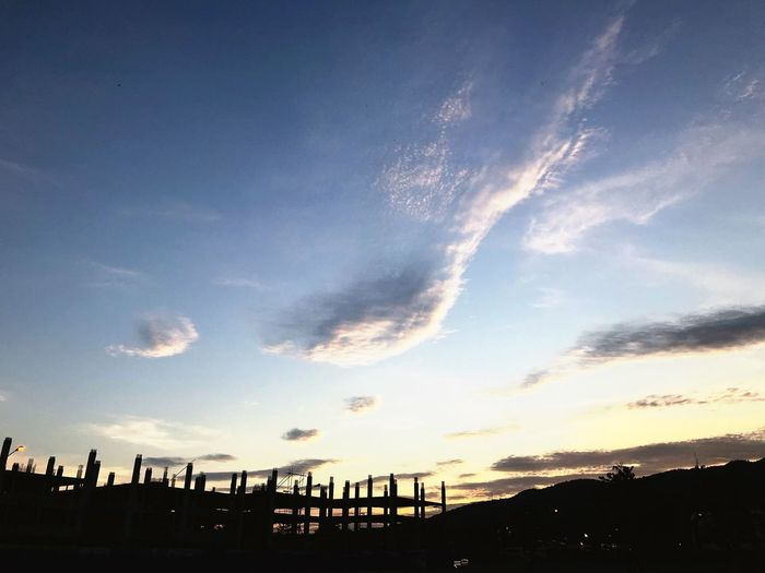 Iphonephotography Sky Cloud - Sky Silhouette Low Angle View Sunset Outdoors Nature Scenics No People Architecture Built Structure