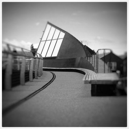 Kingston Upon Hull Bridge East Yorkshire Snapseed Architecture Black And White Shades Of Grey Scale Lane Swing Bridge Scale Lane Footbridge Iphonephotoacademy IPhoneography Showcase: November IPS2015Architecture Urban Geometry IPS2016Composition