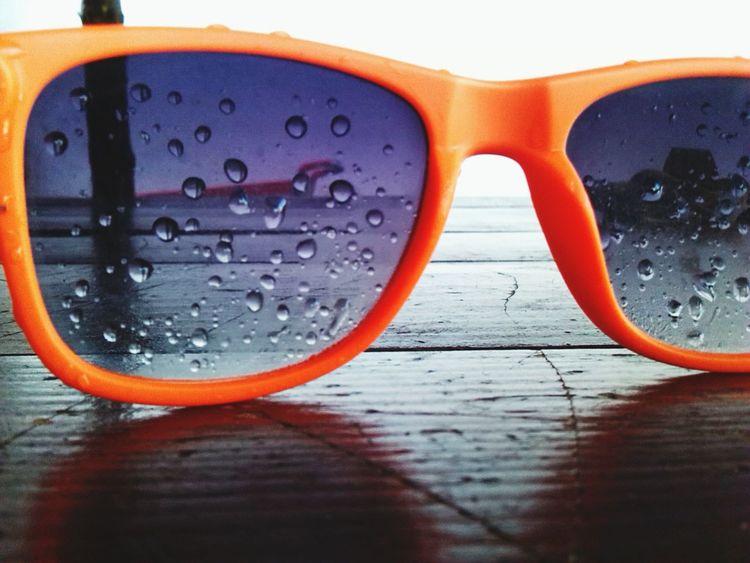 Zemun Summer Cool Sun Sunglasses Waterdrops Orange Fun