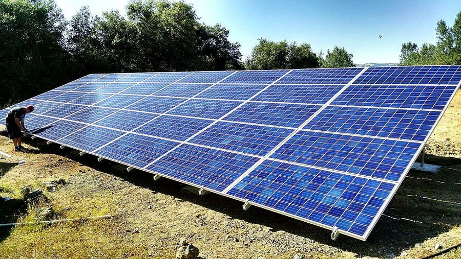 Completed solar ground mount using Qcell 330s with AP Systems YC-500i and Dual Rack all from Fortune Energy. Solar Panel Solar Energy Fuel And Power Generation Environmental Conservation Alternative Energy Electricity  Technology Day No People Outdoors Fortune Energy