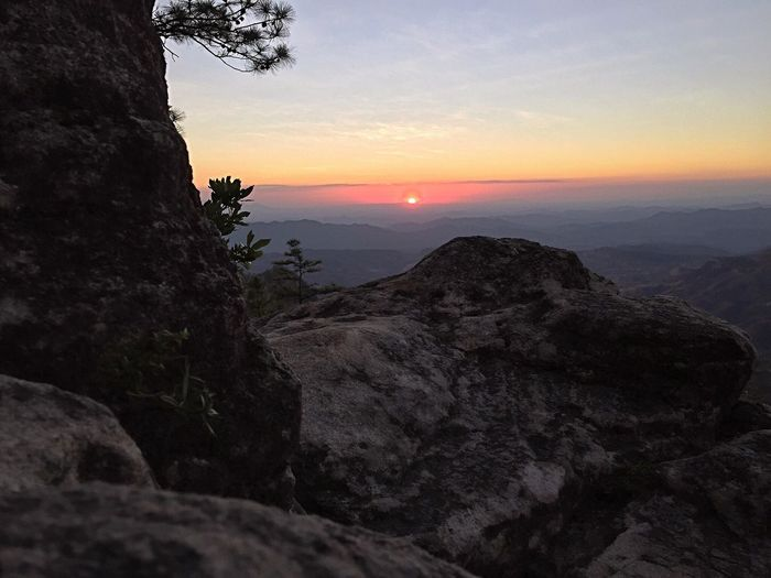 Sunset Nature Mountain Tranquil Scene Beauty In Nature Scenics Tranquility Sky Landscape No People Outdoors Tree Day