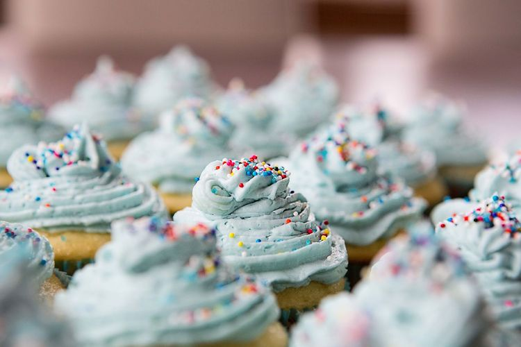 Close-up of cupcakes