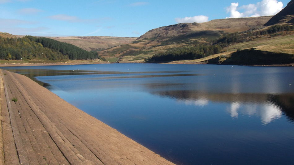 Dovestone Reservoir Beauty In Nature Idyllic Landscape Mountain No People Reservoir Reservoirs Sky Tranquil Scene Water