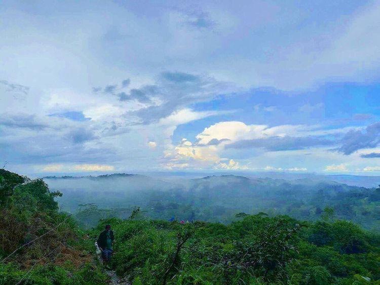Beauty In Nature Sky Nature Scenics Cloud - Sky Day Outdoors Mountain Landscape Blue Sky Fog Adventure Travel Destinations Scenery Tourism Mountain Range Forest Osmeña Peak Cebu City, Philippines