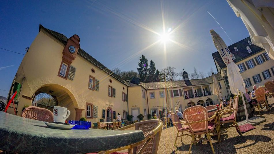 Fisheye Sunny Day Sunbeam Architecture Building Exterior Built Structure Building Sky Nature Low Angle View Outdoors