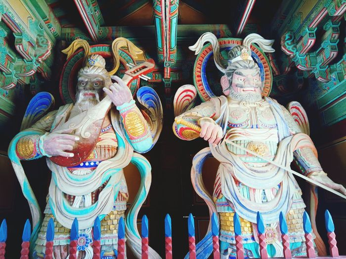 Multi Colored Amusement Park Carousel Close-up