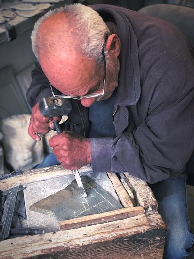 Man working at workshop
