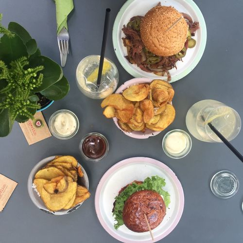 Burger EyeEm Selects Plate Table Ready-to-eat Food And Drink Indoors  Food No People