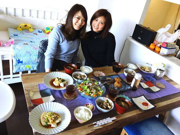 my colleague came to our home 🏡 looooove❤️ Lunchtime Today's Lunch Smiling Colleagues Love ♥ Thankyou Togetherness Happiness Friendship Healthy Eating Cooking Make Recipes My Recipes My Special Recipes メカジキの香味野菜がけ レンコンとこんにゃくの胡麻和え サツマイモと人参とこんにゃくと玉ねぎと牛蒡の味噌汁 具沢山コロッケ ナッツサラダバルサミコ酢ドレッシング 創作料理 得意料理
