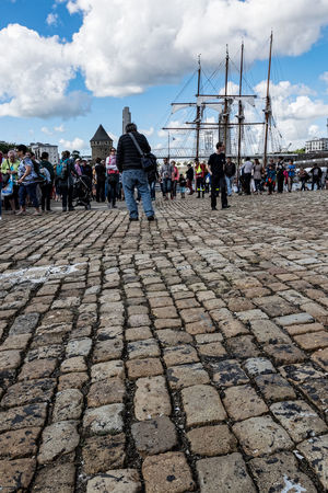 Au pied du château Brest 2016 Brest2016 Cloud Cloud - Sky Cloudy Day Dock Fêtes Maritimes Large Group Of People Outdoors Tourism Travel Destinations Wharf