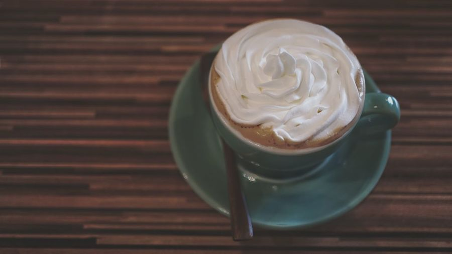Close-Up Of Cup Of Cappuccino