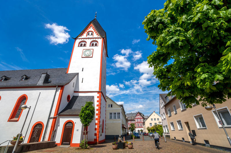 Church City Nassau Architecture Building Exterior Built Structure Day Germany Hessen Lahn No People Outdoors Sky Tourism Village