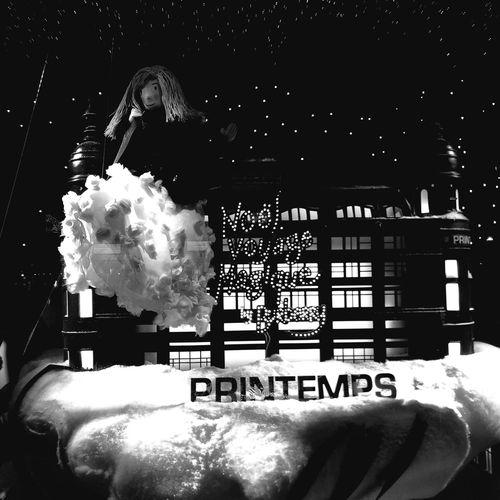 Christmas Lights Paris Je T Aime Blackandwhite Feeling Like A Child