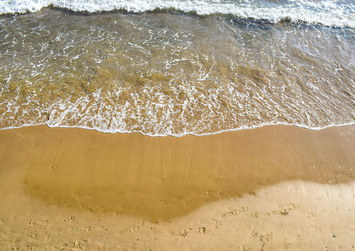 a wave Water Wave Sea Motion Beach Backgrounds Crashing Surf Rushing Sand Full Frame Shore Flowing Water Tide Coast FootPrint Splashing Sandy Beach Calm Power In Nature Rippled