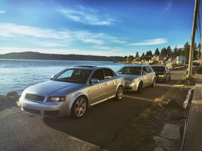 Lining up the Audis Audi Waterfront German