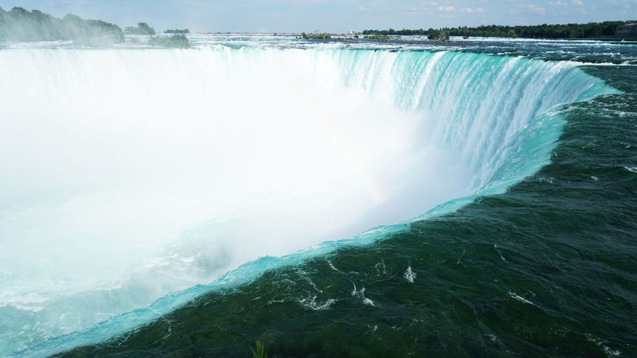 Niagara Falls Water Scenics - Nature Waterfall Beauty In Nature Sea Motion Nature Environment Day Flowing Water No People Flowing Power Splashing Outdoors Power In Nature Turquoise Colored Purity Running Water Niagara Falls Niagara My Best Photo