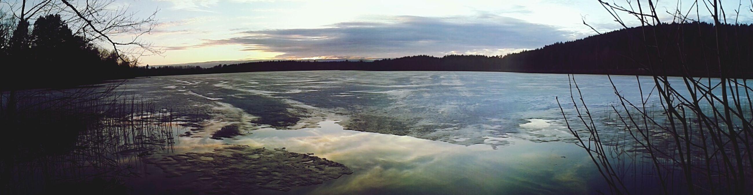 Panorama Lake Spring Finland Beautiful Taking Photos Nature