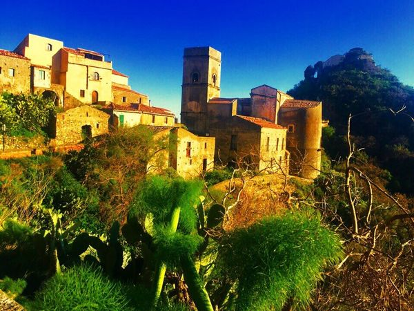 Savoca, Sicily Italy Architecture Built Structure Building Exterior History No People Clear Sky Old Ruin Ancient Low Angle View Castle Outdoors Fort Blue Day Sky Tree Ancient Civilization Nature Best Place To Visit Travel Destinations Enjoying The View Charming Belissimo
