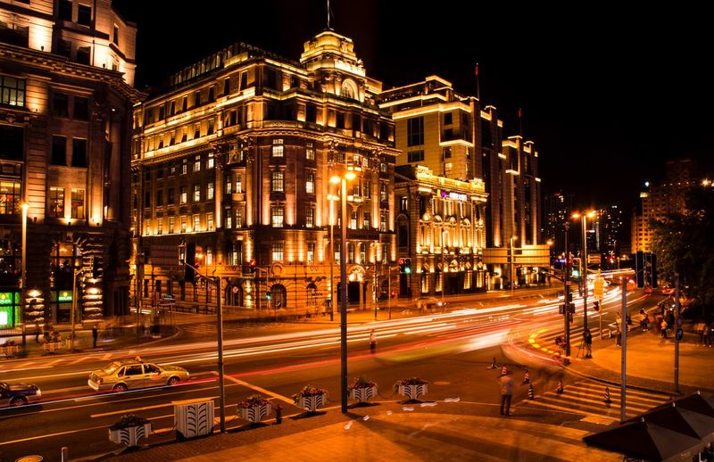 夜上海 Night Illuminated Street Architecture City Transportation Road EyeEmNewHere