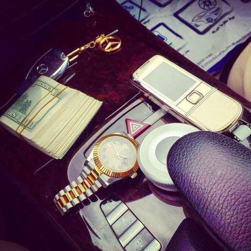 Money Mercedes Benz Gold Phone