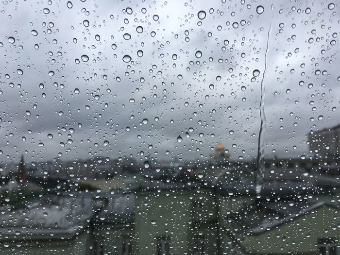 Rain in Moscow Drop Window Wet No People Indoors  RainDrop Backgrounds Nature Sky Day Water Illuminated Close-up City View  Travel Destinations Short Focus Focus On Foreground Raindrops Rainy Days This Week On Eyeem Rainy Day Rainy Morning Autumn 2017 Moscow Beauty In Nature