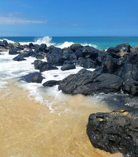EyeEmNewHere Maui Maui Beach Eyemphotography Ohana ❤ Sea Horizon Over Water Beach Water Sky Sand Outdoors Nature Day No People Wave Beauty In Nature