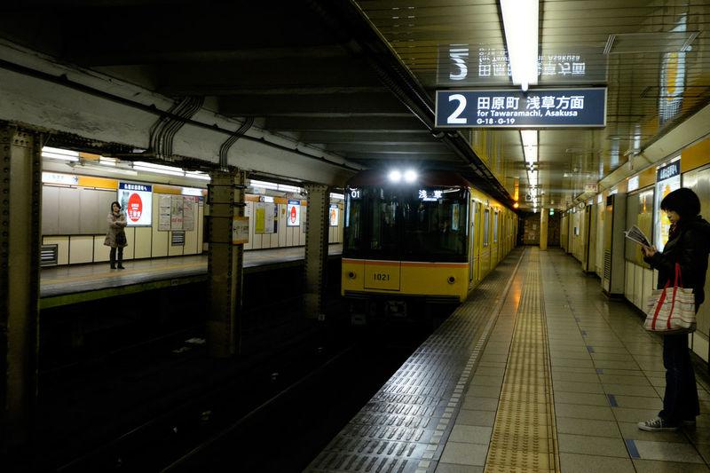 銀座線稲荷町駅 Fujifilm Fujifilm X-E2 Fujifilm_xseries Ginza Line Inaricho Subway Tokyo Train 上野 地下鉄 撮り鉄ではない 東京 稲荷町 銀座線 電車
